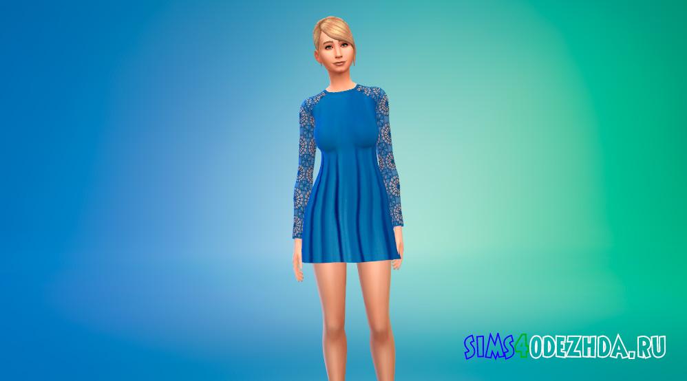 Короткое платье принцессы для Симс 4 - фото 1