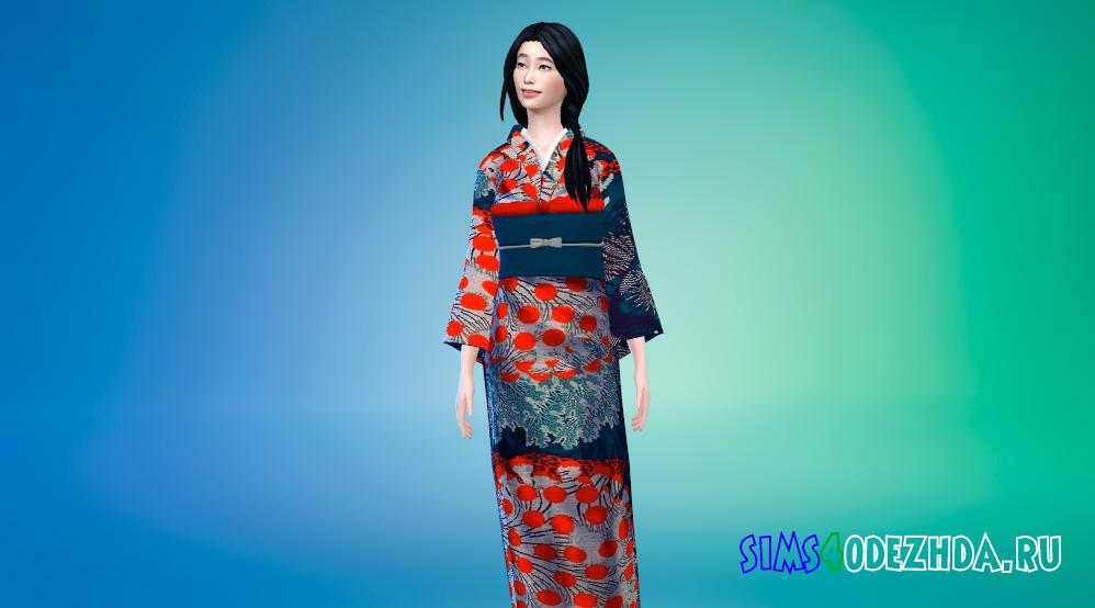 Красивое кимоно для Симс 4 - фото 1