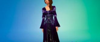Красивое средневековое платье для Симс 4 - фото 1