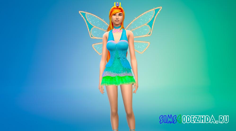 Одежда Винкс в трансформации Энчантикс для Симс 4 - фото 1