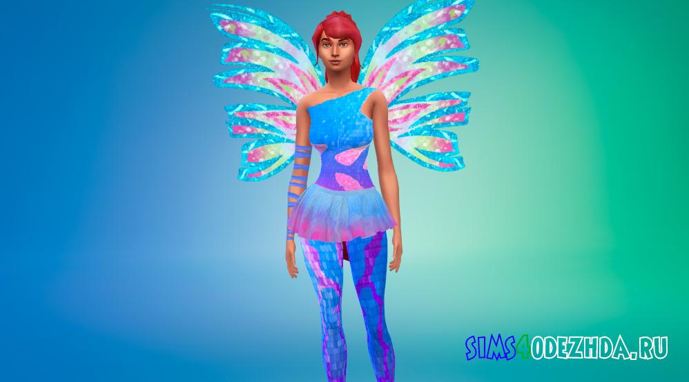 Одежда Винкс в трансформации Сиреникс для Симс 4 - фото 1