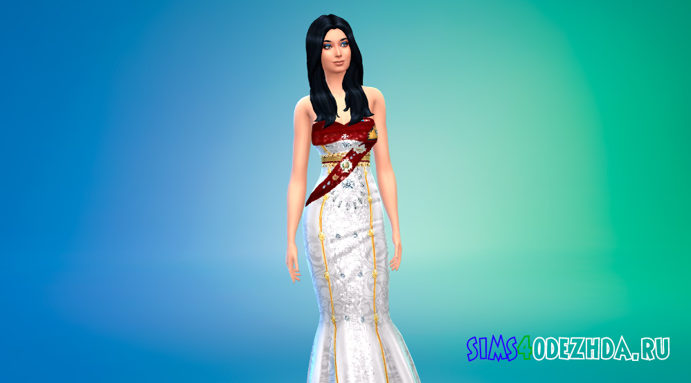 Официальный наряд ее королевского величества для Симс 4 - фото 1