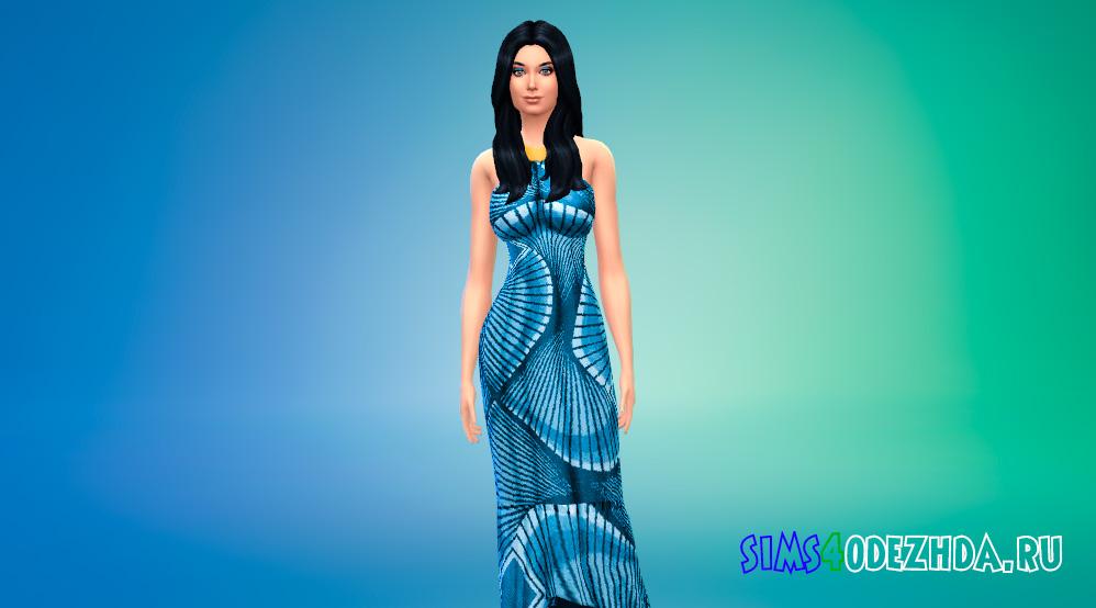 Платье африканской королевы для Симс 4 - фото 1