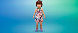 Платье для малышей Симс 4 - фото 1