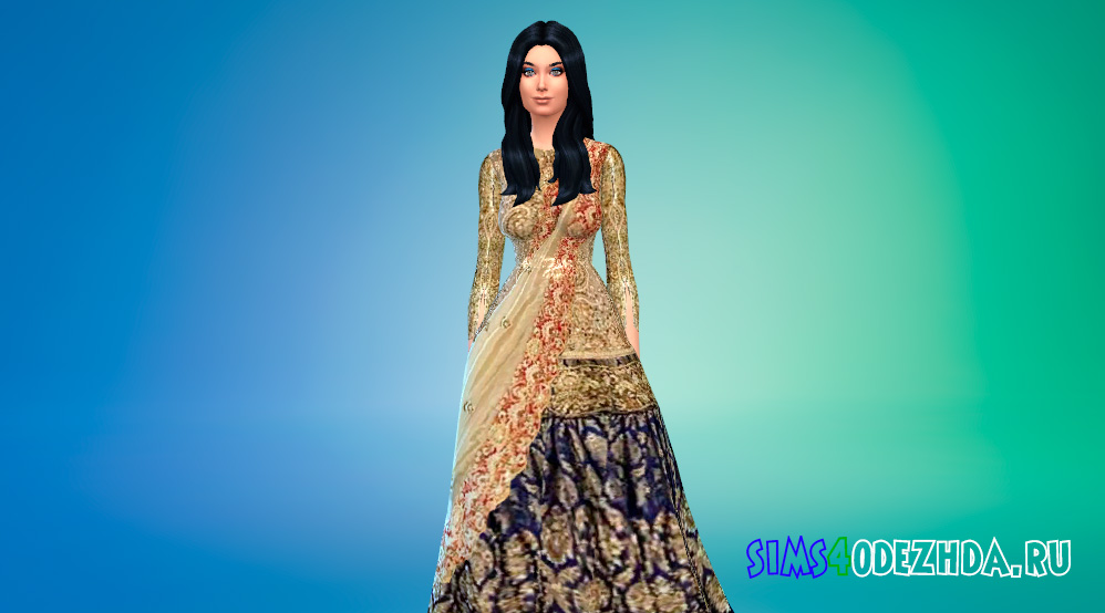Платье королевской особы для Симс 4 - фото 1