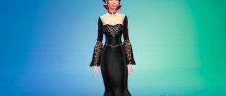 Платье королевы вампиров для Симс 4 - фото 1
