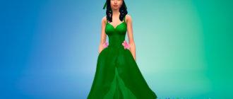 Платье принцессы Юпитер для Симс 4 - фото 1