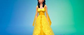 Платье принцессы Венера для Симс 4 - фото 1