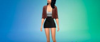 Платье с короткой курткой для Симс 4 - фото 1