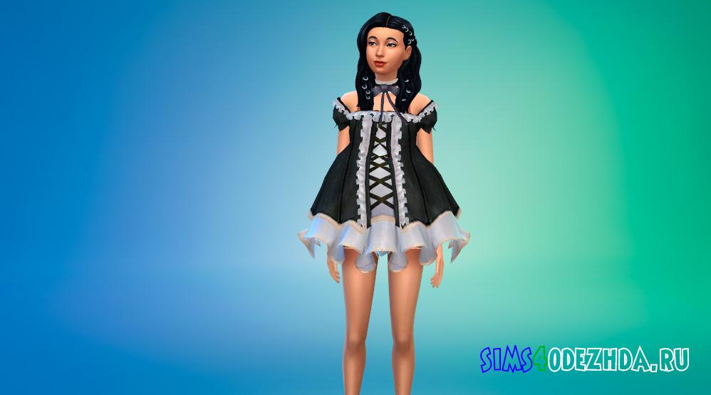 Платье Теры для Симс 4 - фото 1