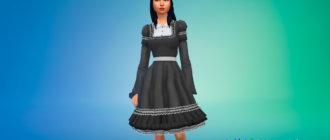 Платье в готическом стиле для Симс 4 - фото 1
