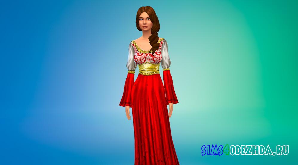 Платья из средневековья для Симс 4 - фото 1