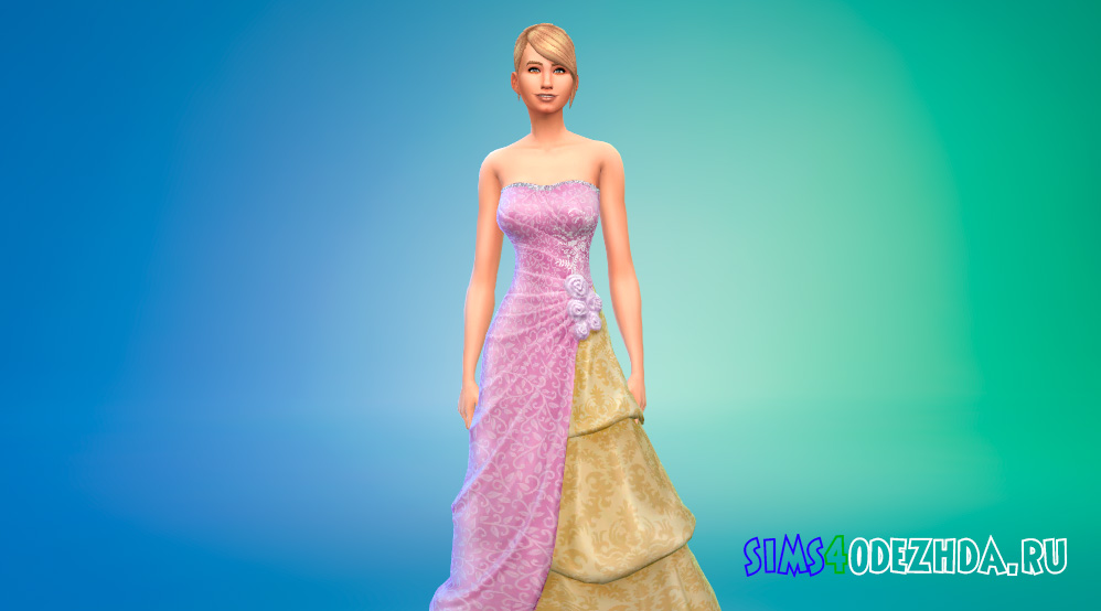 Платья принцессы в пастельных цветах для Симс 4 - фото 1