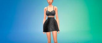 Современное платье принцессы для Симс 4 - фото 1
