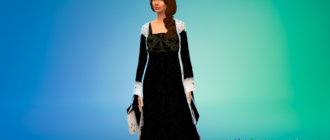 Средневековое платье для королевских особ для Симс 4 - фото 1