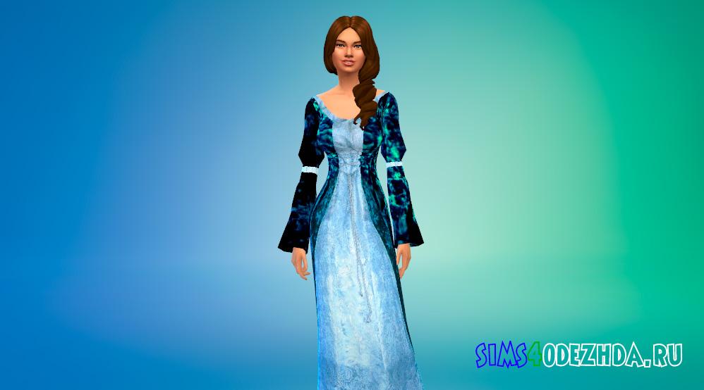 Средневековое платье в стиле Дисней для Симс 4 - фото 1