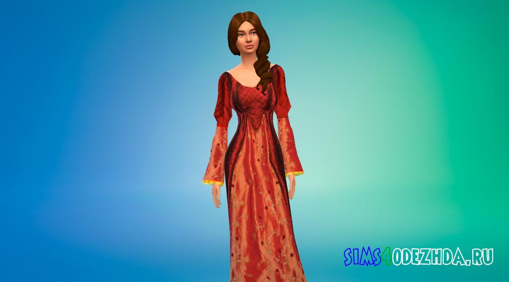 Средневековые платья принцессы для Симс 4 - фото 2