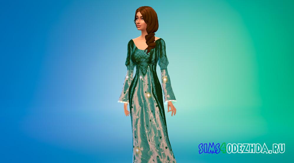 Средневековые платья принцессы для Симс 4 - фото 3