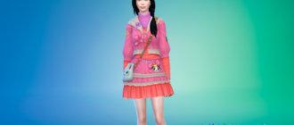 Супер милое платье для Симс 4 - фото 1