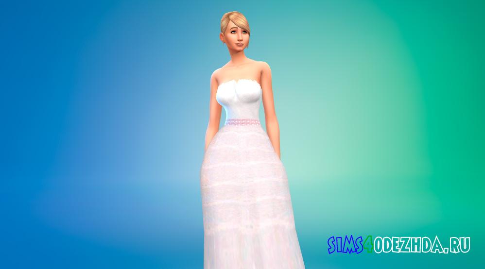 Свадебное платье принцессы для Симс 4 - фото 1