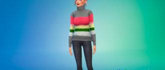 Теплые зимние свитера для Симс 4 - фото 1
