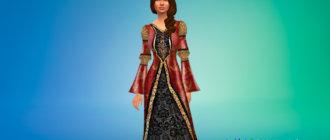Турецкое средневековое платье для Симс 4 - фото 1
