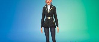 Женская зимняя куртка для Симс 4 - фото 1