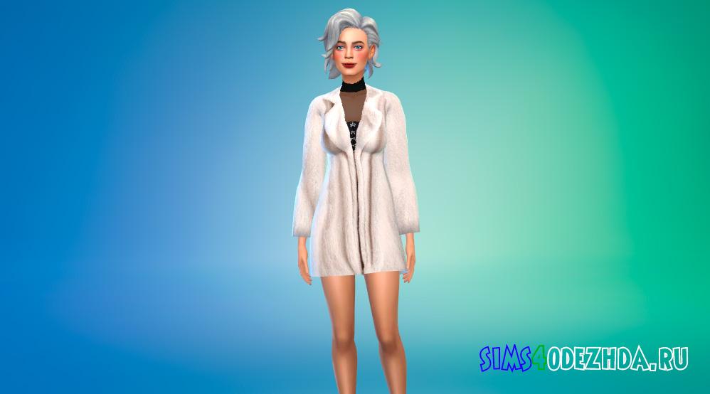 Зимнее женское пальто для Симс 4 - фото 1