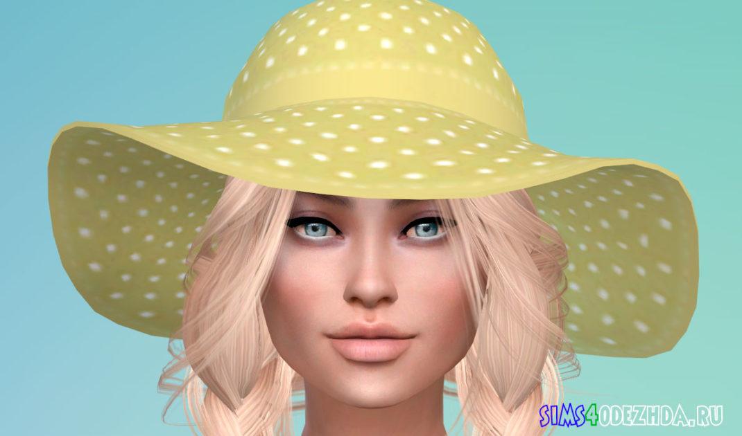 Яркая летняя шляпа для Симс 4 - фото 1