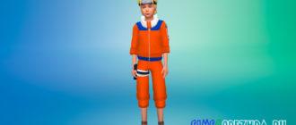 Классический костюм Наруто для Симс 4 - фото 1