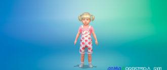 Комбинезон с рисунком для малышей для Симс 4 - фото 1