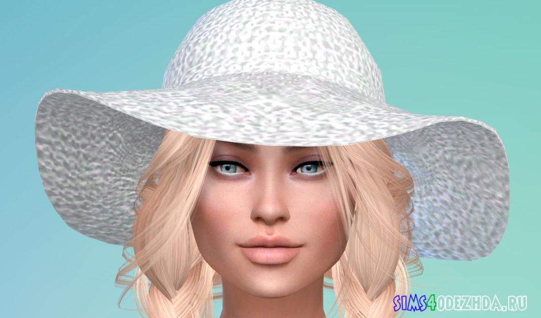 Летняя женская шляпа для Симс 4 - фото 1
