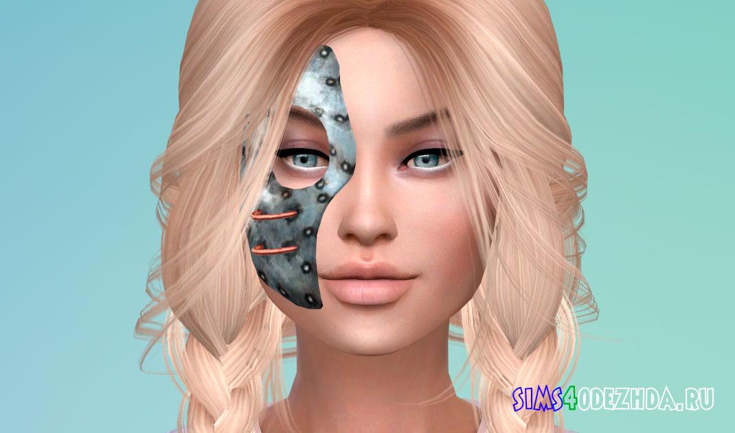 Металлическая маска на пол лица для Симс 4 - фото 1