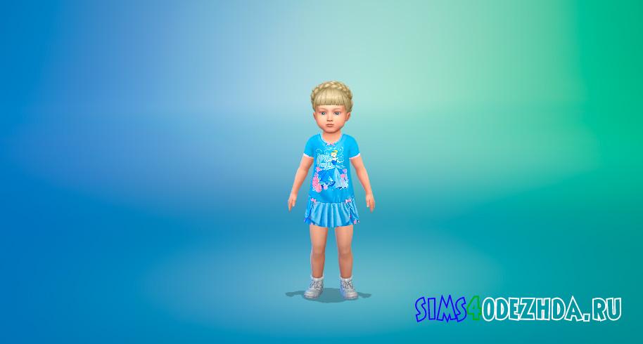 Ночная сорочка с принцессами для Симс 4 - фото 1