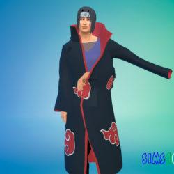 Одежда Итачи Учиха для Симс 4 - фото 1
