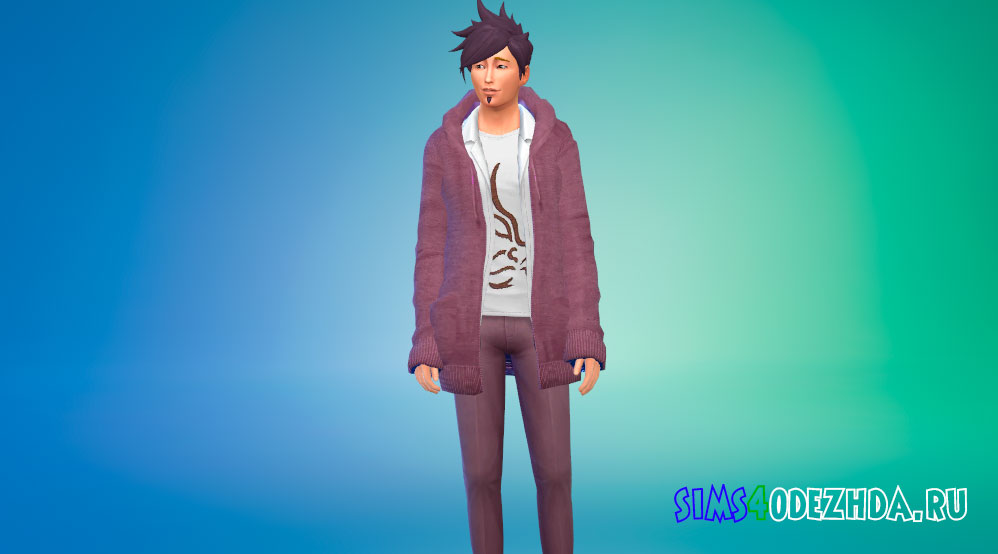 Одежда Кайто Момота для Симс 4 - фото 1
