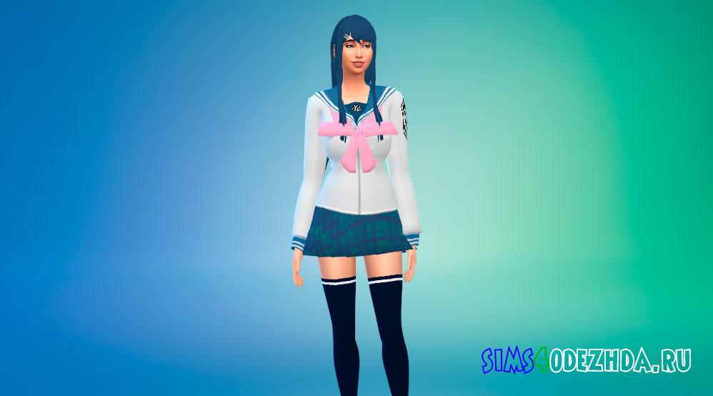 Одежда Саяка Майзоно для Симс 4 - фото 1