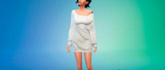 Платье-джемпер для Симс 4 - фото 1
