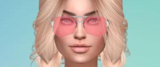 Солнцезащитные очки с нестандартными линзами для Симс 4 - фото 1