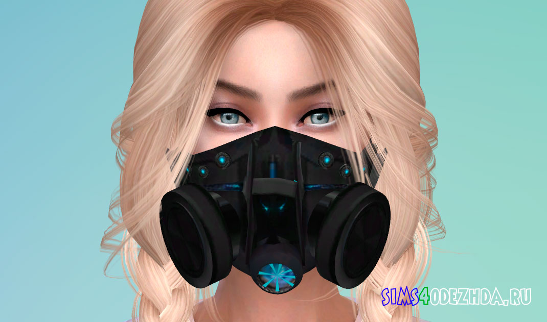 Унисекс маска в форме противогаза для Симс 4 - фото 1