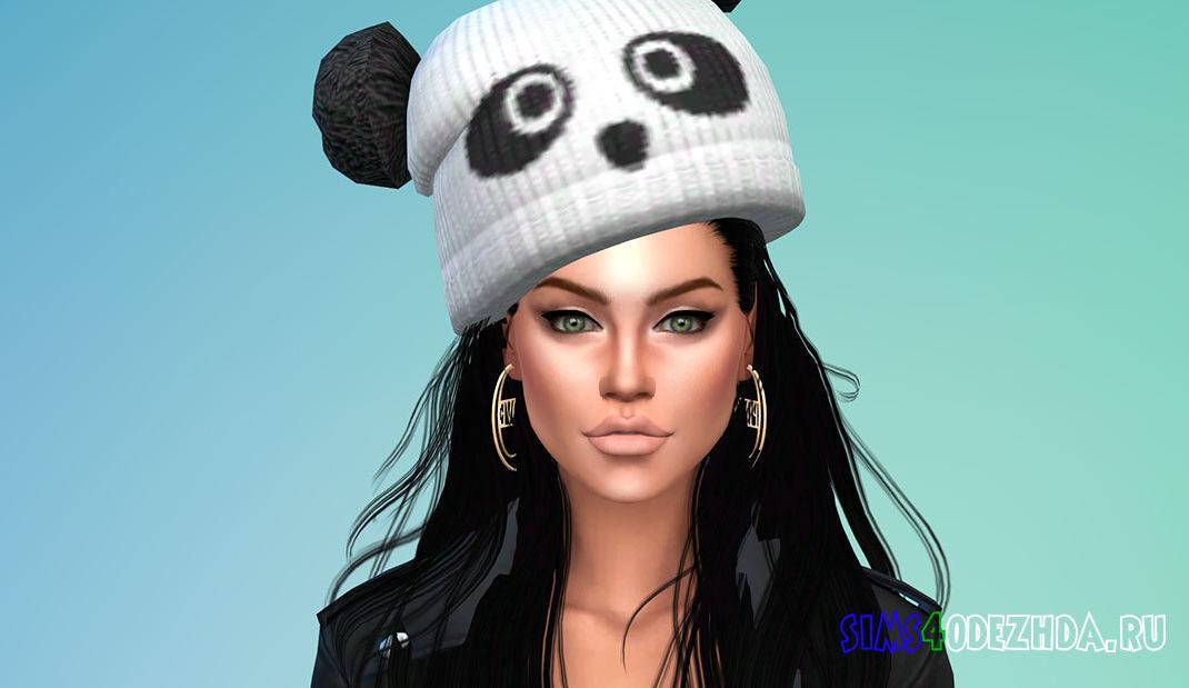 Унисекс шапка-панда для Симс 4 - фото 1