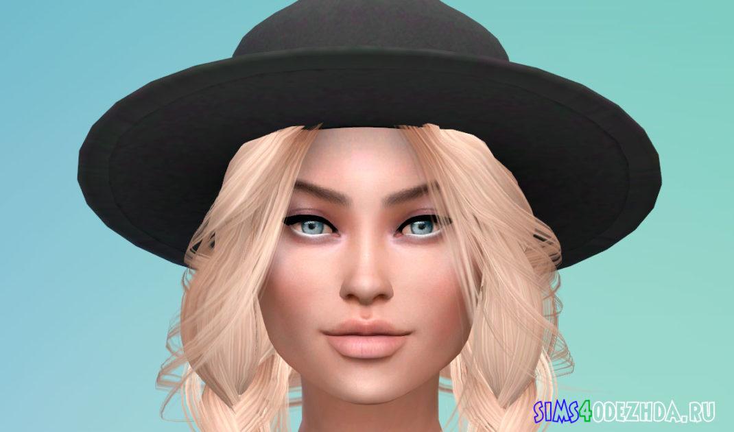 Унисекс шляпа-федора для Симс 4 - фото 1
