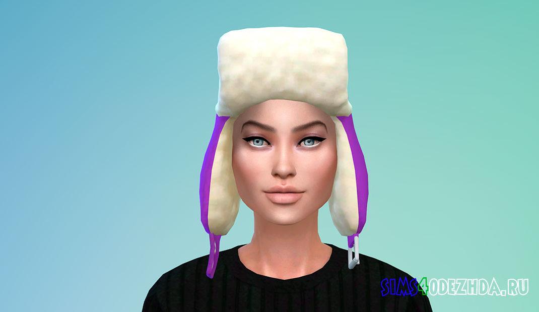 Женская шапка-ушанка для Симс 4 - фото 1