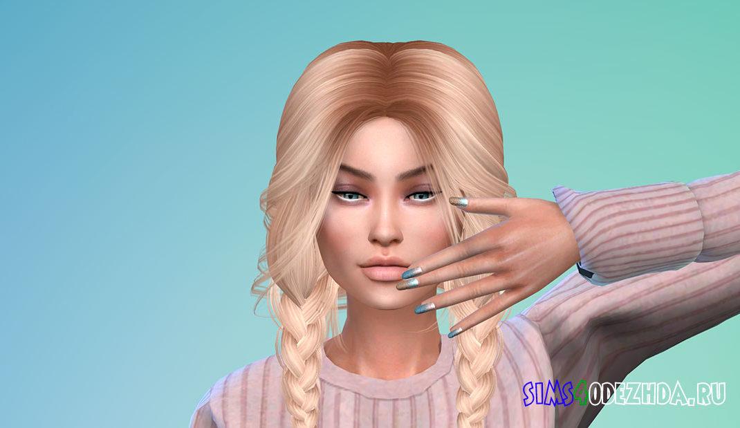 Женские ногти с напылением для Симс 4 – фото 1