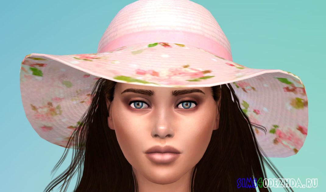 Цветочная шляпа для Симс 4 – фото 1