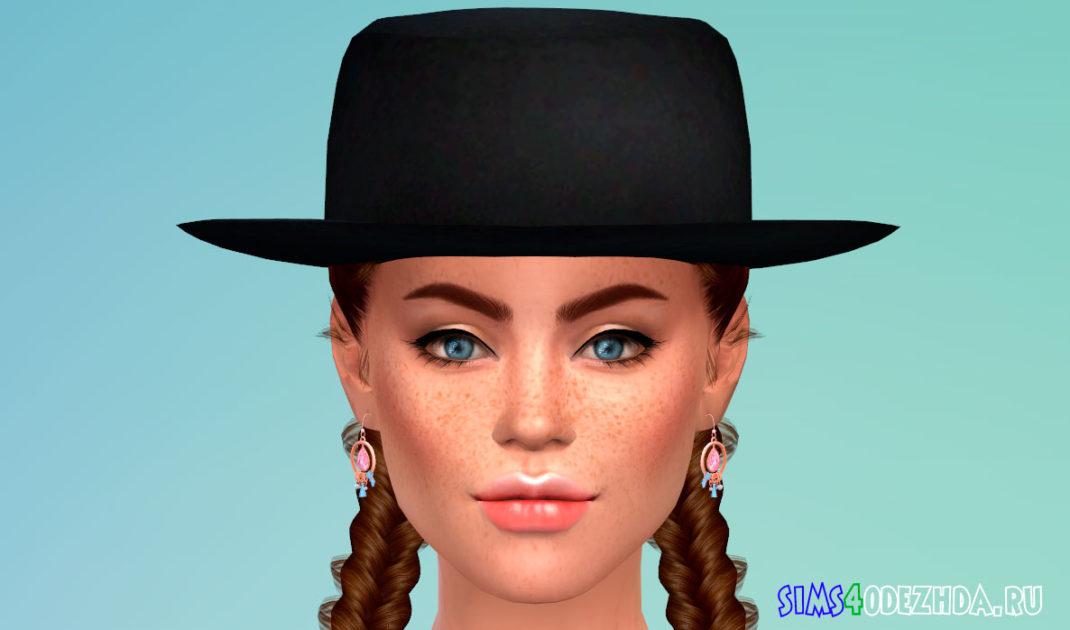 Набор стильных шляп для Симс 4 – фото 1