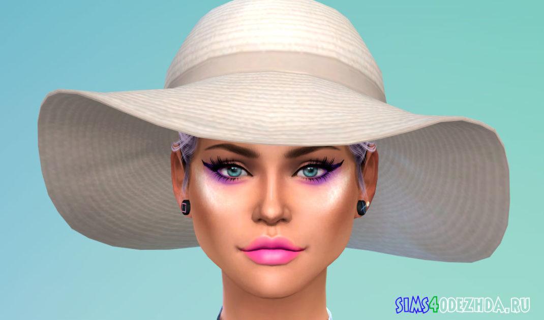 Пляжная шляпа для Симс 4 – фото 1