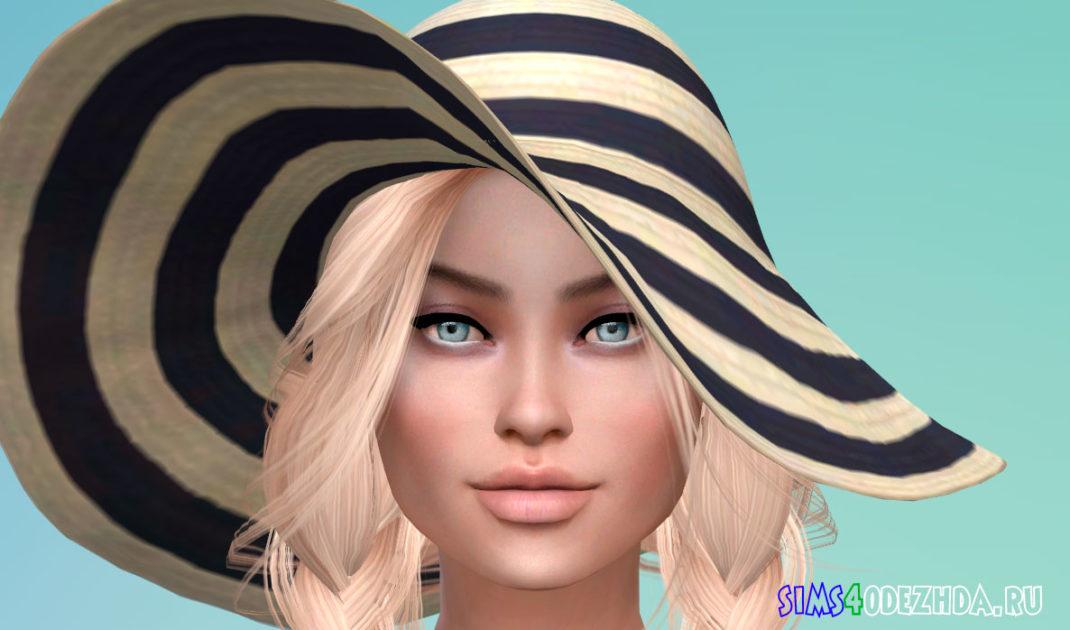 Шикарная женская шляпа для Симс 4 – фото 1