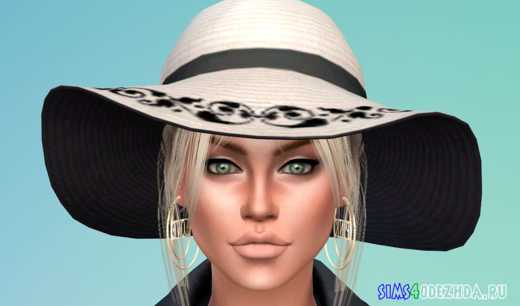 Шляпа с красивым узором для Симс 4 – фото 1