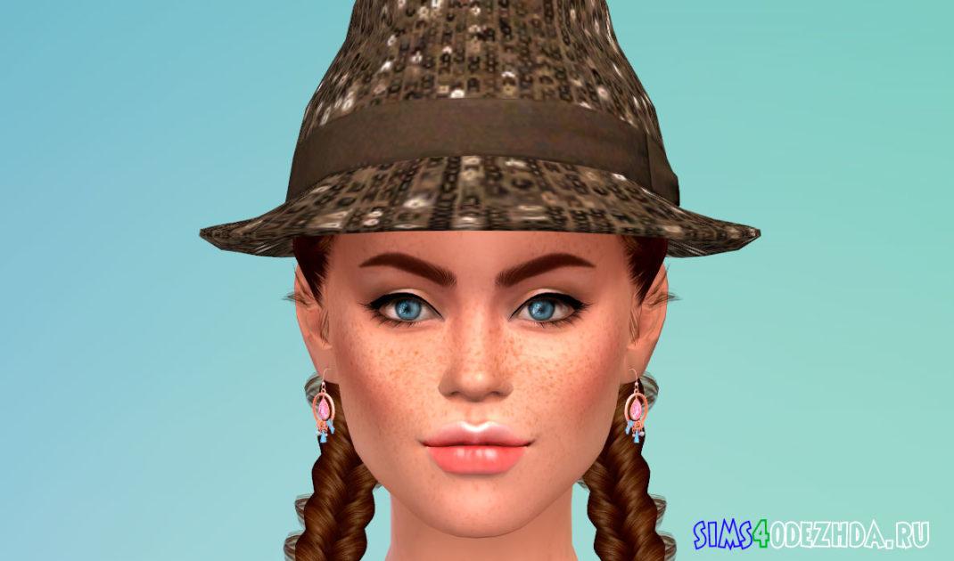 Стильная женская шляпа для Симс 4 – фото 1
